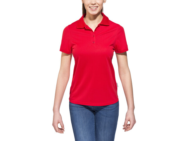 axant Alps - Polo manches courtes femme - rouge